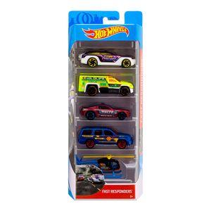 Hot-Wheels-Pacote-Presente-com-5-Carros-Fast-Responders---Mattel