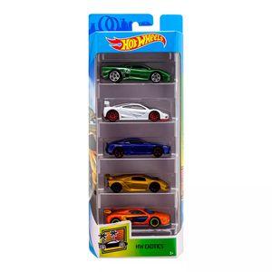 Hot-Wheels-Pacote-Presente-com-5-Carros-Exotics---Mattel