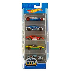 Hot-Wheels-Pacote-Presente-com-5-Carros-City---Mattel