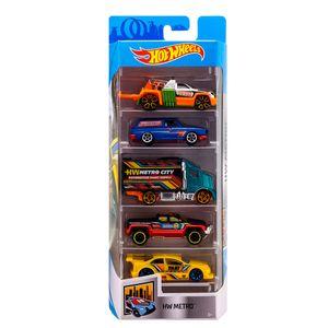 Hot-Wheels-Pacote-Presente-com-5-Carros-Metro---Mattel