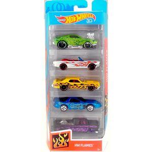 b726e8206 Hot-Wheels-Pacote-Presente-com-5-Carros-Flames-