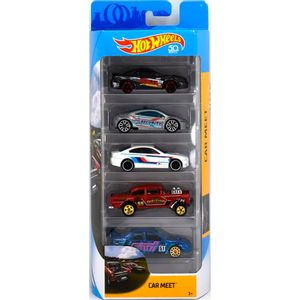 Hot-Wheels-Pacote-Presente-com-5-Carros-Carmeet---Mattel