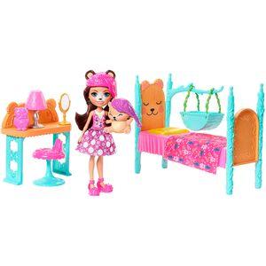 Enchantimals-Comodos-da-Casa---Quarto-dos-Sonhos-e-Boneca-Bren-Bear---Mattel