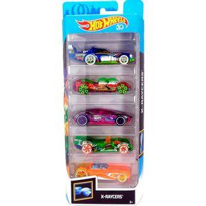 Hot-Wheels-Pacote-Presente-com-5-Carros-Raycers---Mattel