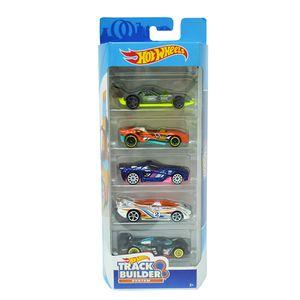 Hot-Wheels-Pacote-Presente-com-5-Carros-Track-Builder-System---Mattel