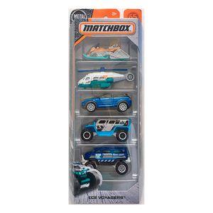 Matchbox-Pacote-Presente-com-5-Carros-Ice-Voyagers---Mattel