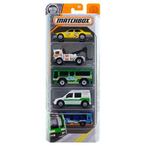 Matchbox-Pacote-Presente-com-5-Carros-Metro-Transit---Mattel