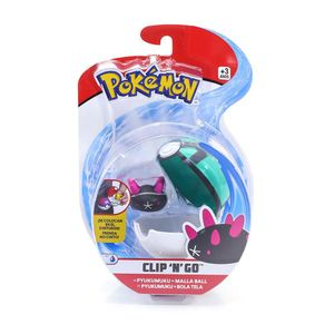 Pokemon-Pokebola-Clip-N-Go-com-Clips-Pyukumuku---DTC