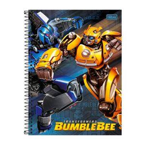 Caderno-Espiral-Capa-Dura-Universitario-Transformers-Bumblebee-e-Megatron-80-Folhas---Tilibra