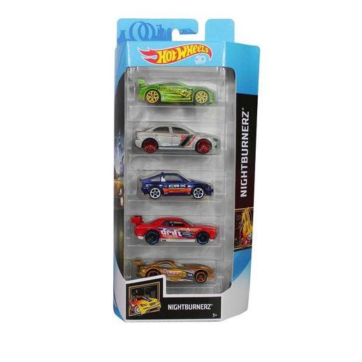 Hot-Wheels-Pacote-Presente-com-5-Carros-Nightburnrz---Mattel