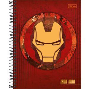 Caderno-Espiral-Capa-Dura-Colegial-Homem-de-Ferro-10M-160-Folhas---Tilibra