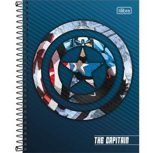 Caderno-Espiral-Capa-Dura-Colegial-Capitao-America-10M-160-Folhas---Tilibra