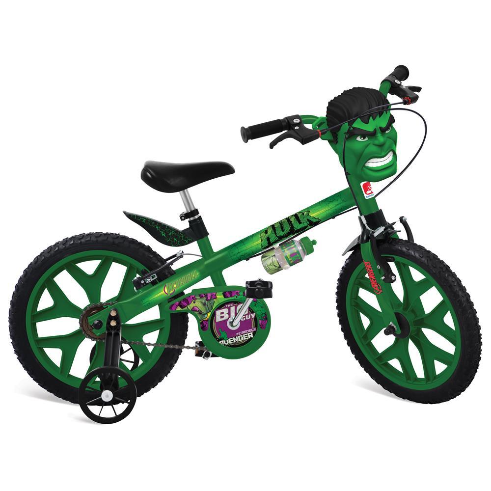 Bicicleta Aro 16 com Rodinhas Os Vingadores Hulk - Bandeirante ... 4963583a0b4