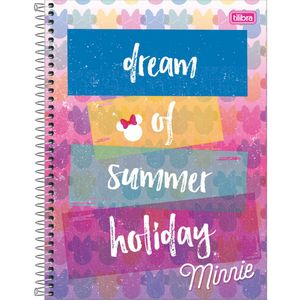Caderno-Espiral-Capa-Dura-Universitario-Minnie-Dream-of-Summer-Holliday-10M-160-Folhas---Tilibra