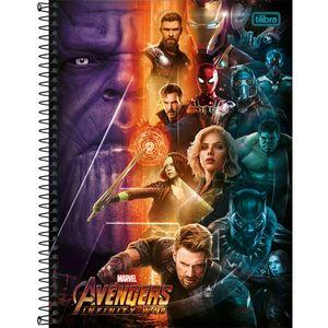 Caderno-Espiral-Capa-Dura-Vingadores-Guerra-Infinita-Thanos-10M-200-Folhas---Tilibra