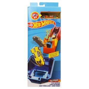 Pista-e-Veiculo-Hot-Wheels-Track-Builder-Giro-Veloz---Mattel