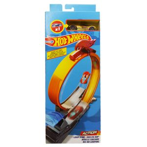 Pista-e-Veiculo-Hot-Wheels-Track-Builder-Rei-do-Looping---Mattel