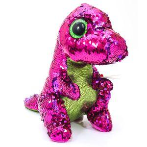 Beanie-Boos-Paete--Medio--Stompy-Dinossauro-Cor-De-Rosa-E-Verde---DTC