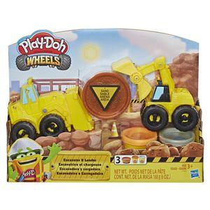 Play-Doh-Conjunto-Wheels-Escavadeira-e-Trator---Hasbro