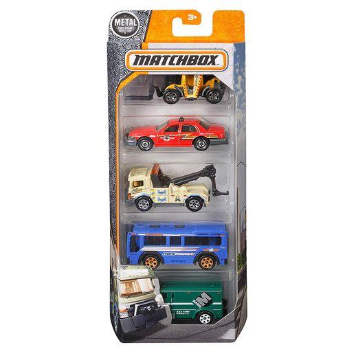 Matchbox-Pacote-Presente-com-5-Carros-Servicos-da-Cidade---Mattel
