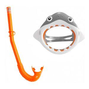 Mascara-de-Mergulho-com-Snorkel-Tubarao-Divertido---Intex