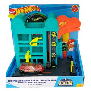 Playset-Hot-Wheels-Downtown-Speed-Shop-Escape---Mattel