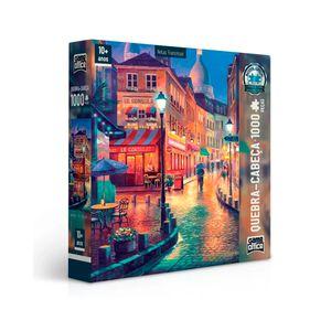 Quebra-Cabeca-1000-Pecas-Vielas-Francesas-Bares-Noturnos---Toyster
