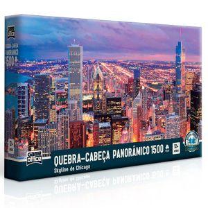 Quebra-Cabeca-Skyline-de-Chicago-1500-Pecas---Toyster