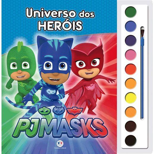 Livro-Aquarela-Pj-Masks-Universo-dos-Herois---Ciranda-Cultural
