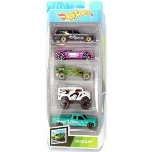 Hot-Wheels-Pacote-Presente-com-5-Carros-Speed-Blur---Mattel