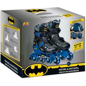 Batman-Patins-Ajustavel-37-a-40-com-Kit-de-Seguranca---Fun-Divirta-se