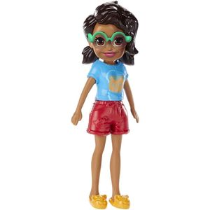 Polly-Pocket-Happy-Hour-Negra-com-Camisa-Azul---Mattel