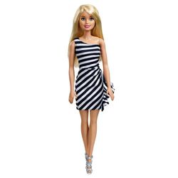 Barbie-Fashion-and-Beauty-Vestido-Listrado---Mattel