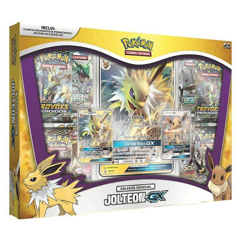 0729d60645 Pokemon Box Evoluções Eevee-GX Jolteon-GX - Copag